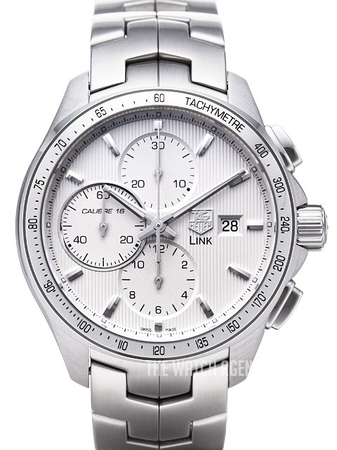 11c5020b44c TAG Heuer Link Calibre 16 Automatic Chronograph Silver colored Steel Ø43 mm  ref. CAT2011.BA0952