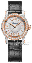 Chopard Happy Sport 30 MM Automatic Silver colored/Leather Ø30 mm
