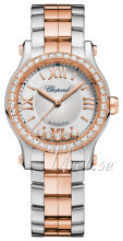 Chopard Happy Sport 30 MM Automatic Silver colored/18 carat rose gold Ø30 mm